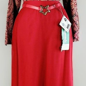 Vintage Skirts - Summit of Boston 1970s red wool maxi skirt.